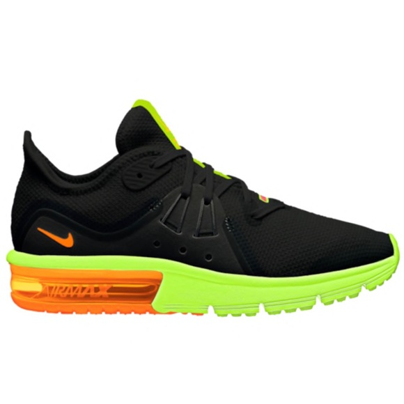 ce3071d6d42b4 Nike Air Max Sequent 3 - Black Orange Volt